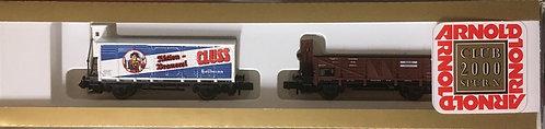 Arnold Set de 2 wagons marchandises DR