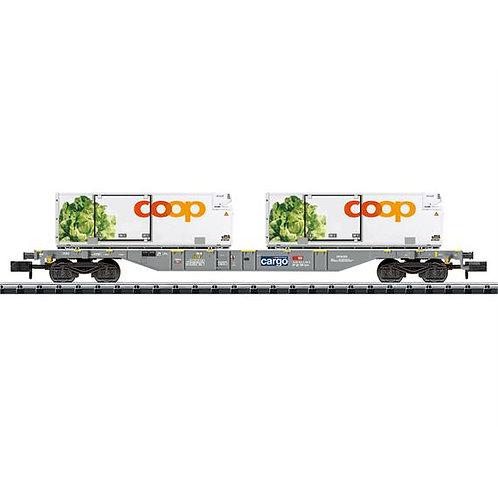 Minitrix CFF wagon porte-conteneurs COOP salades