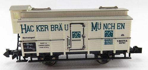 "Minitrix wagon à bières ""Hackerbräu"""