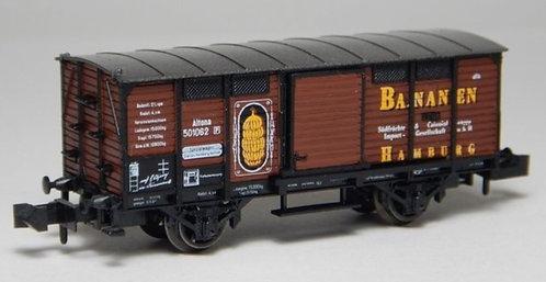 """Minitrix wagon couvert """"Bananen"""""""