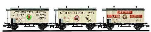 Arnold Coffret de 3 wagons à bières CFF