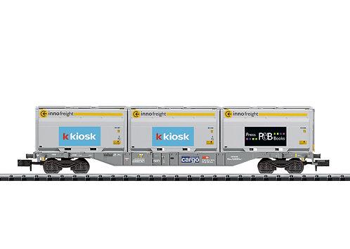 Minitrix CFF wagon porte-conteneurs Kiosk / P&B
