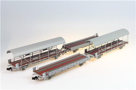 Liliput Set de 4 wagons porte-autos BLS