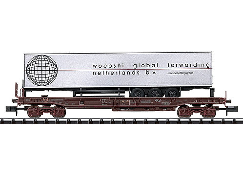 Minitrix NS wagon porte-remorque Wocoshi