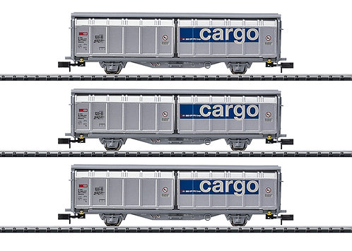 Minitrix Coffret Wagons à parois coulissantes Cargo