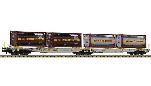"""Fleischmann Wagon porte-Container double """"Bertschi AG"""""""