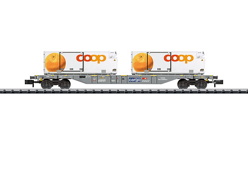 Minitrix CFF wagon porte-conteneurs COOP