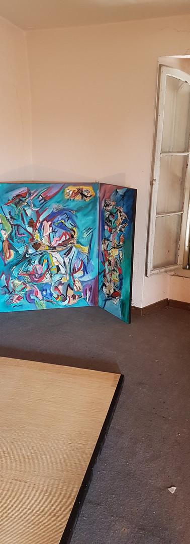 trittico aperto  open triptych