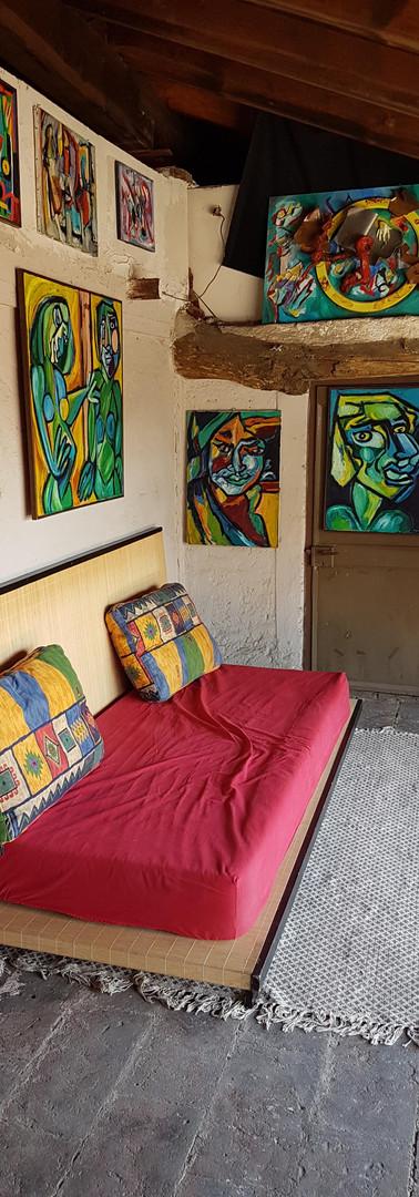 """accoglienza  """"dell' atelier aperto""""  reception  of the """"open atelier"""""""