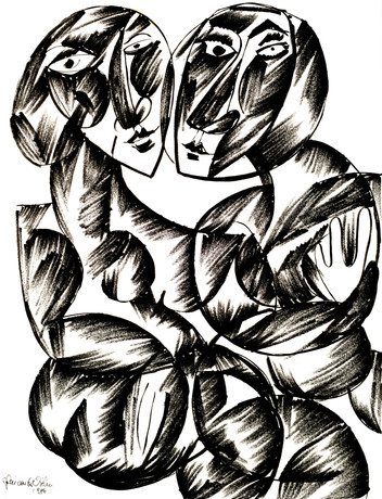 P - disegni bianco e nero 1986 / P - black and white drawings 1986