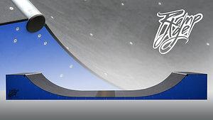L480 W125 H62 cm Mini Ramp for skateboarding - blue