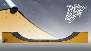 L480 W125 H62 cm Mini Ramp for skateboarding - yellow