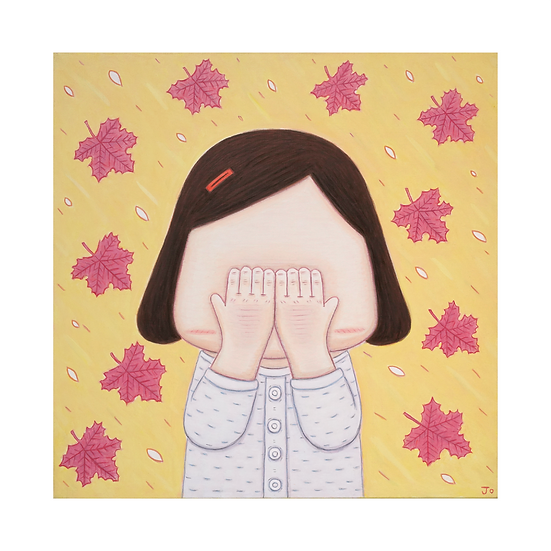 [조규훈] 얼굴을 가린 소녀_낙엽