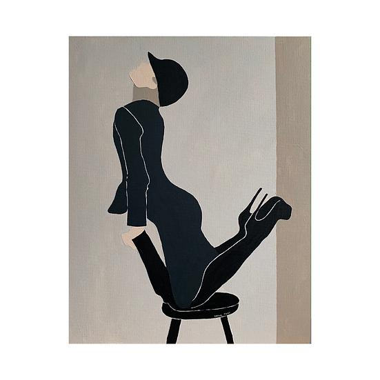 [Irena Tone] Beige: stool