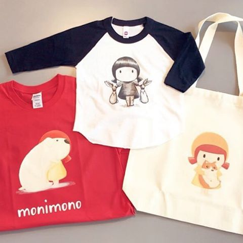 Monimono T-shirt and Eco bag_#contemporaryart#girl#print#instaart#소품#イラスト#絵#lovely#tshirt#ecobag#art