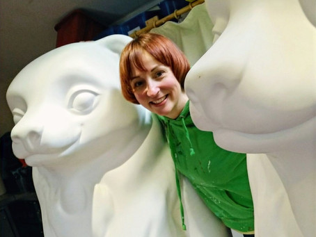 The bear-ginnings of a serial sculpture painter