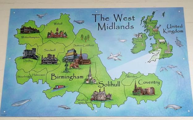 West Midlands Illustrated Map