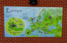 Playground Illustrated Europe Map