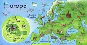 Illustrated Europe Map