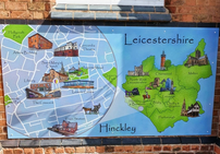 Playground Illustrated Leicestershire Map