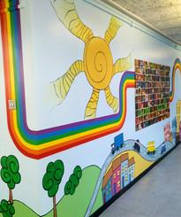 School Corridor Mural