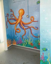 Undersea Corridor Mural