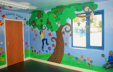 School Enrance Mural
