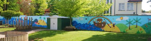 Bible Stories Playground Mural