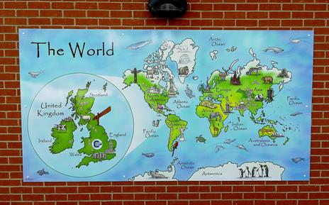 Playground Illustrated World Map