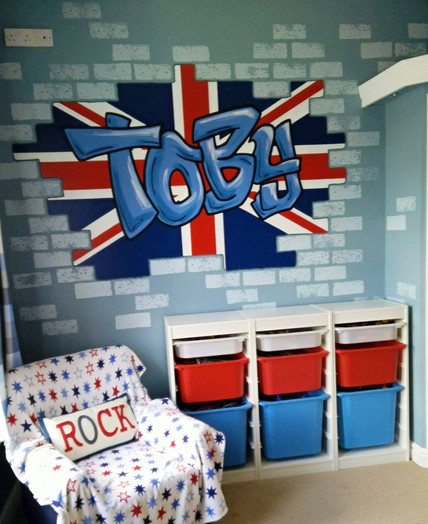 Boys Graffiti Room