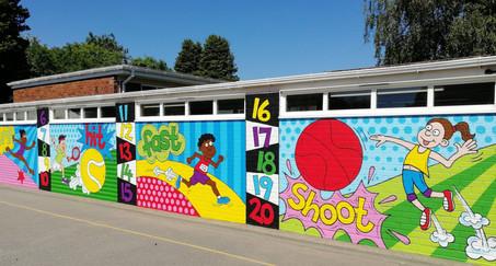 Playground Sports Mural