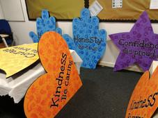 Handprinted School Values