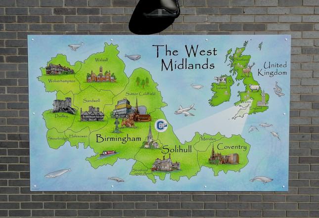 Playground Illustrated West Midlands Map