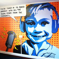 School Radio Mural