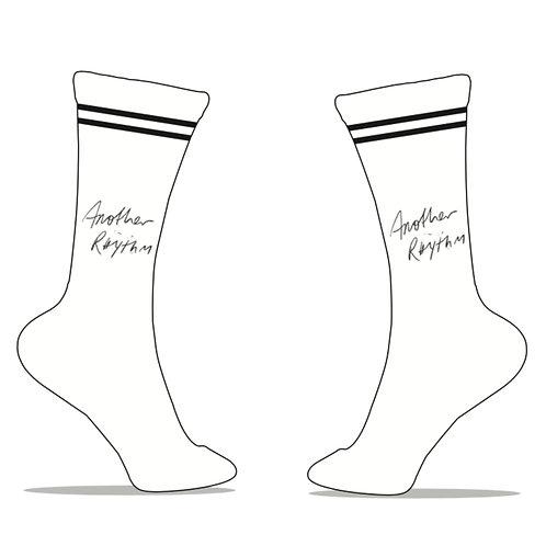 Another Rhythm White Socks