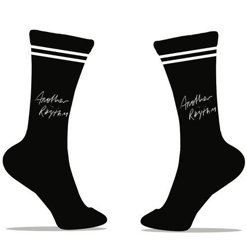 Another Rhythm Black Socks