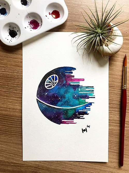 Death Star Ink Painting