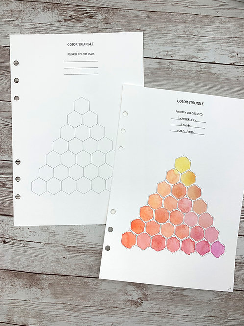 Printable Color Triangle Chart