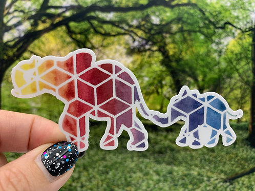 Elephants Vinyl Sticker