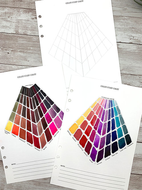 Printable Color Study Chart