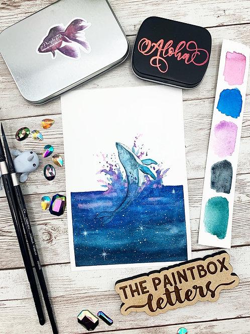 Ocean of Stars Watercolor Painting