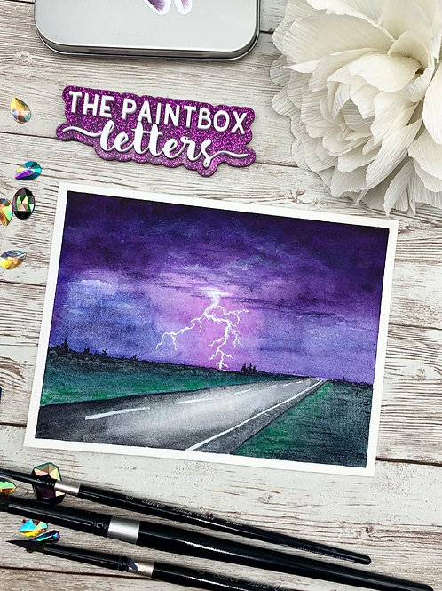 Lightning Strikes Painting