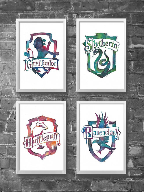 Hogwarts House Crest Prints