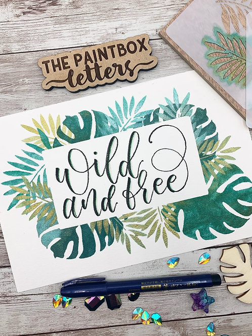 Wild and Free Watercolor Painting