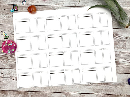 Printable Swatch Cards