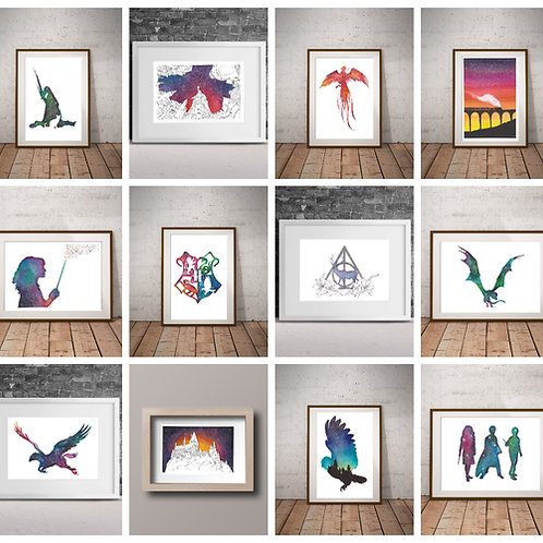 Harry Potter Prints Collection