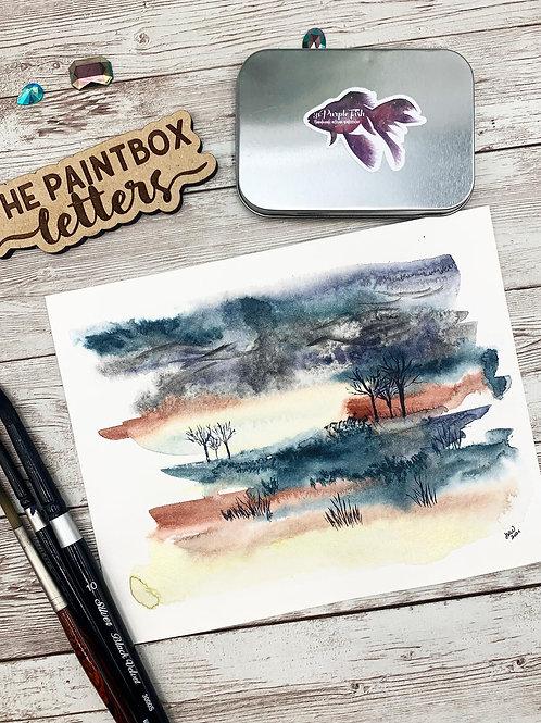 Dreamscape Watercolor Painting