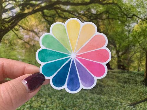 Color Wheel Vinyl Sticker