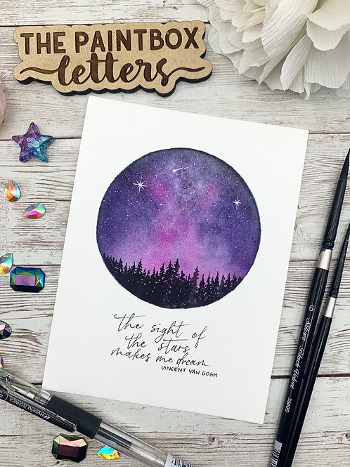 Starry Night w/ Van Gogh Quote Painting