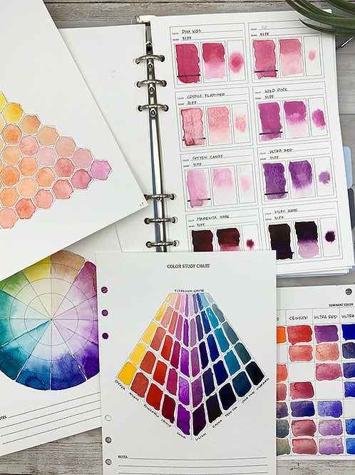 Customized Watercolor Swatch Book